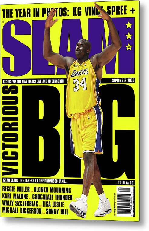Shaquille O'neal Metal Print featuring the photograph Shaquille O'Neal: Notorious BIG SLAM Cover by Getty Images