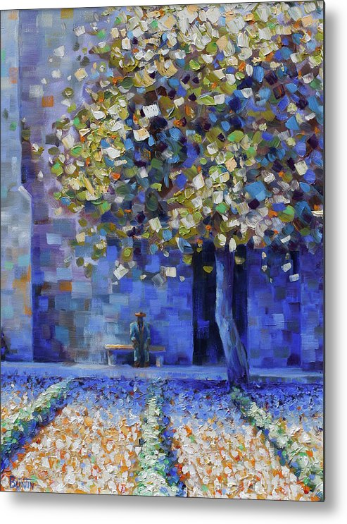 Metal Print featuring the painting St Remy de Provence by Rob Buntin