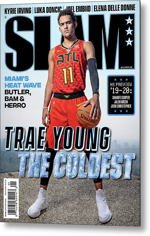 Trae Young Metal Print featuring the photograph Trae Young: The Coldest SLAM Cover by Atiba Jefferson