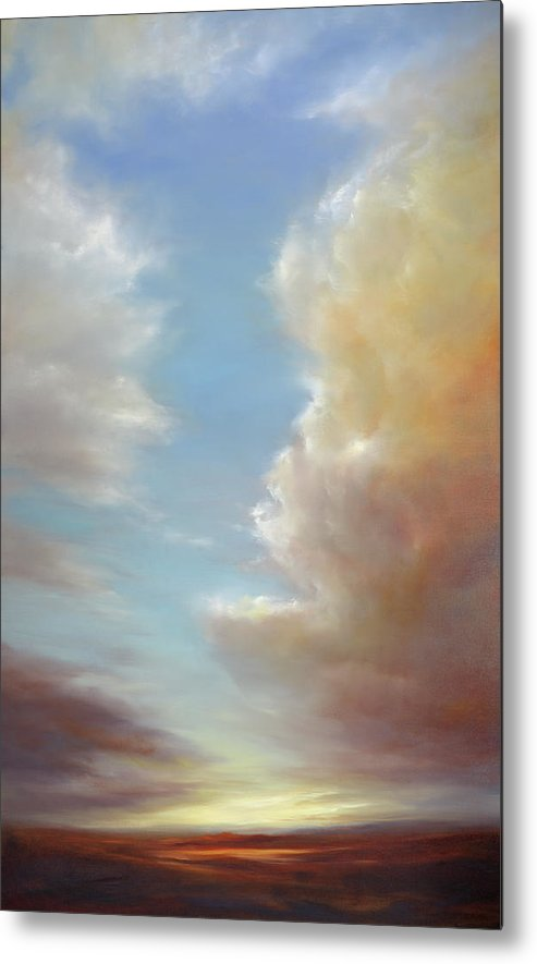 Landscape Metal Print featuring the painting Enchanted by Cheryl Kline