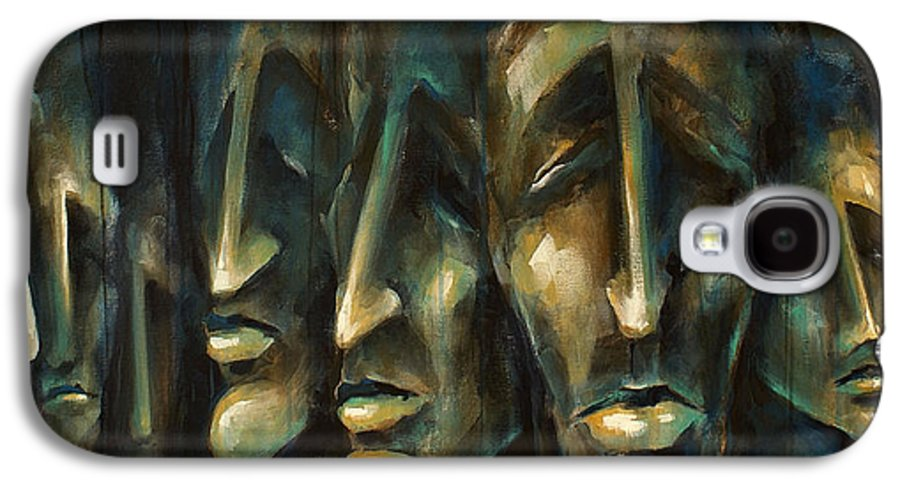 Expressionist Galaxy S4 Case featuring the painting ' Jury Of Eight ' by Michael Lang
