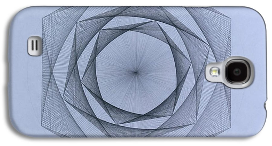 Jason Padgett Galaxy S4 Case featuring the drawing  Energy Spiral by Jason Padgett