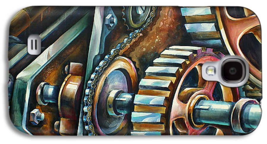 Mechanical Galaxy S4 Case featuring the painting ' In Harmony ' by Michael Lang
