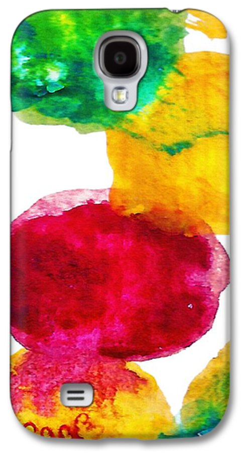 Abstract Galaxy S4 Case featuring the painting Interactions 1 by Amy Vangsgard