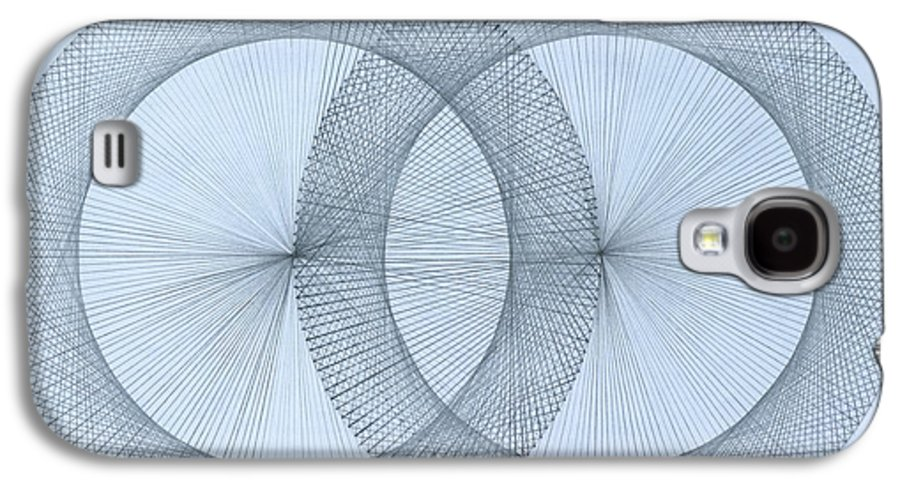 Fractal Galaxy S4 Case featuring the drawing Magnetism by Jason Padgett