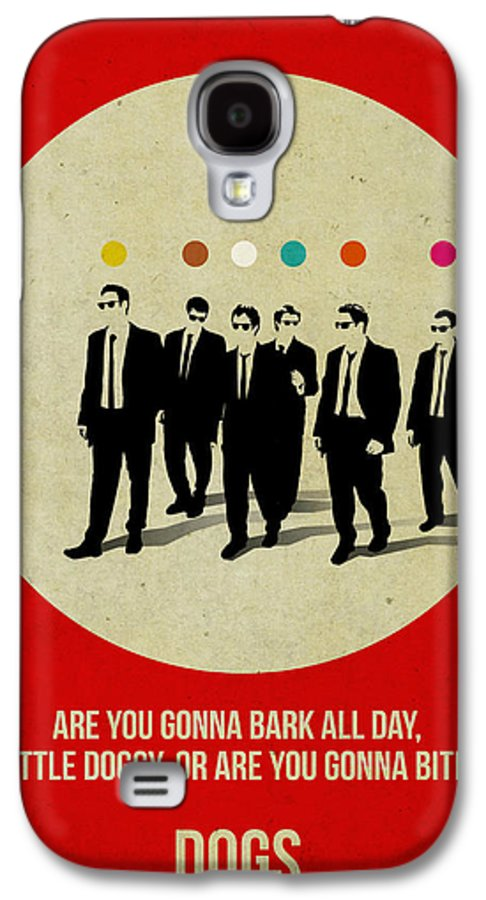 Galaxy S4 Case featuring the painting Reservoir Dogs Poster by Naxart Studio