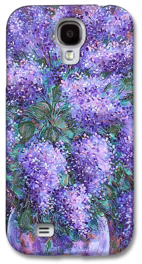 Flowers Galaxy S4 Case featuring the painting Scented Lilacs Bouquet by Natalie Holland