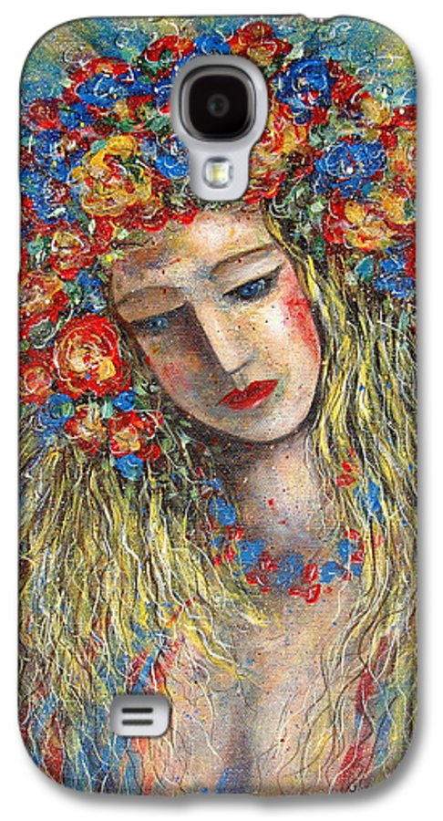 Painting Galaxy S4 Case featuring the painting The Loving Angel by Natalie Holland