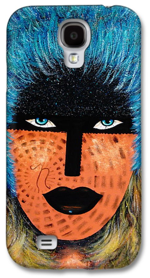 Woman Galaxy S4 Case featuring the painting Viva Niva by Natalie Holland