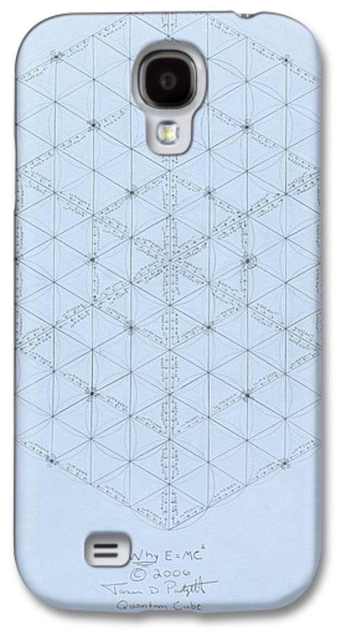 Energy Galaxy S4 Case featuring the drawing Why Energy Equals Mass Times The Speed Of Light Squared by Jason Padgett