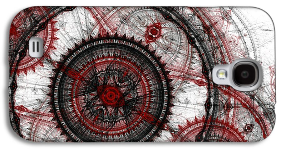Abstract Galaxy S4 Case featuring the digital art Abstract Mechanical Fractal by Martin Capek
