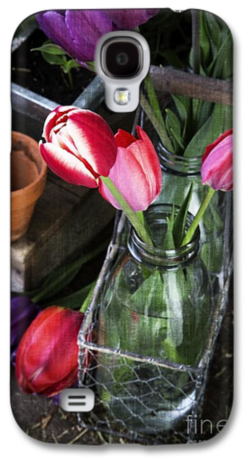 Barn Galaxy S4 Case featuring the photograph Beautiful Spring Tulips by Edward Fielding