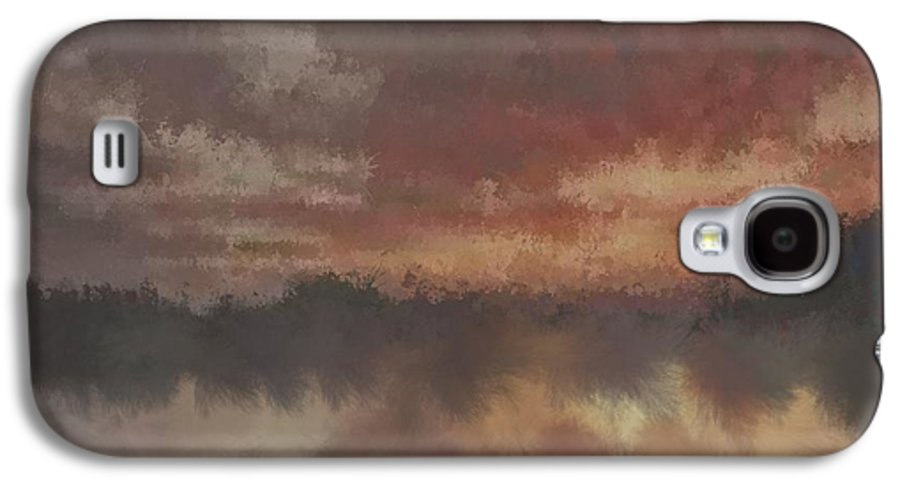 Burnt Galaxy S4 Case featuring the digital art Burnt Sunset Old by Holley Jacobs