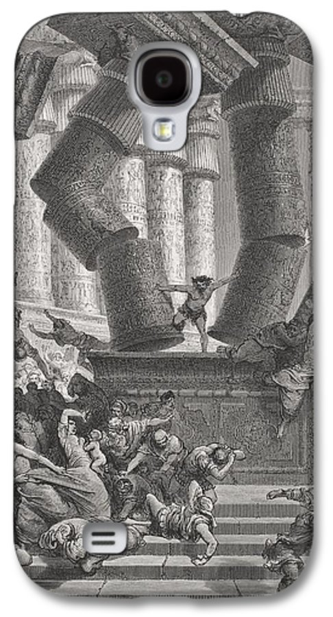 Pushing Galaxy S4 Case featuring the painting Death Of Samson by Gustave Dore