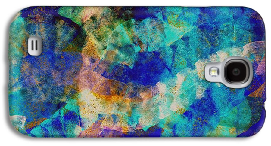 Abstract Galaxy S4 Case featuring the digital art Electric Blue by Julio Haro