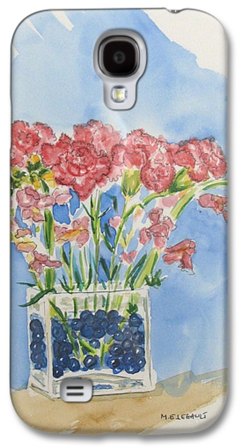 Flowers Galaxy S4 Case featuring the painting Flowers In A Vase by Mary Ellen Mueller Legault