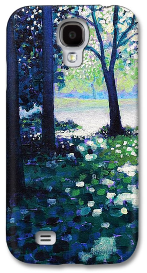 Acrylic Galaxy S4 Case featuring the painting Into The Light  Cropped Version by John Nolan