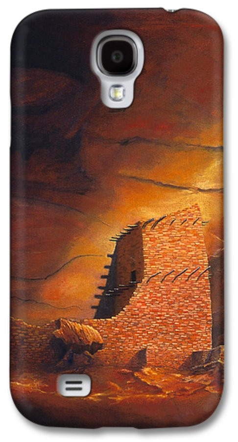 Mummy Cave Ruins Galaxy S4 Case featuring the painting Mummy Cave Ruins by Jerry McElroy
