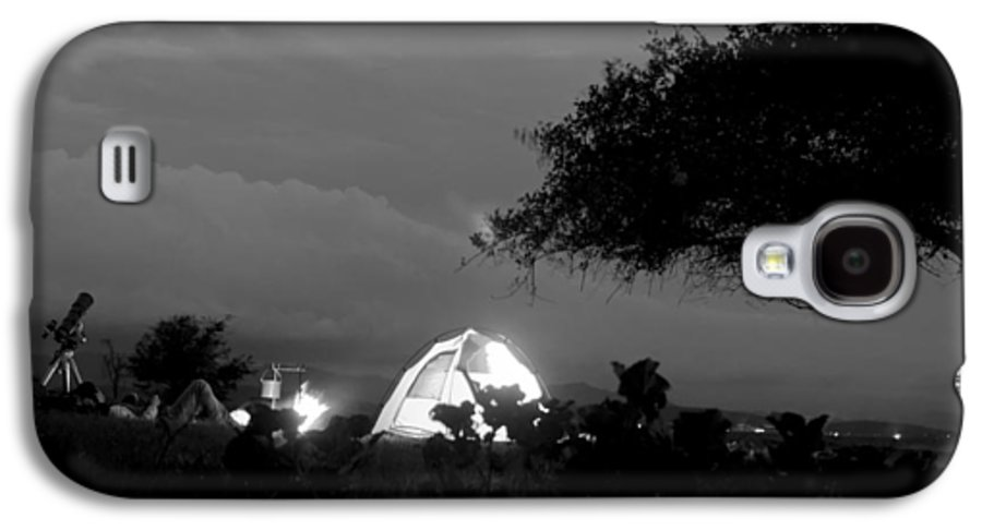 Horizontal Galaxy S4 Case featuring the photograph Night Time Camp Site by Kantilal Patel