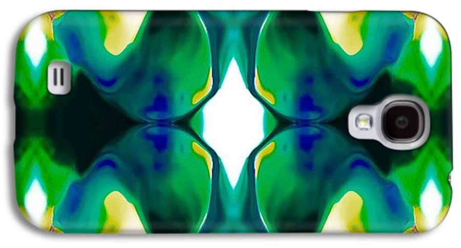 Digital Art Abstract Galaxy S4 Case featuring the drawing Playful by Gayle Price Thomas