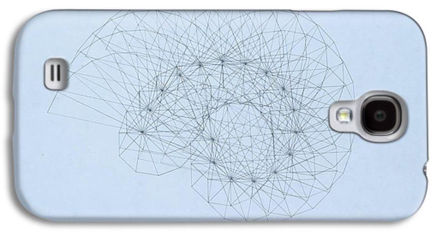 Jason Padgett Galaxy S4 Case featuring the drawing Quantum Nautilus by Jason Padgett