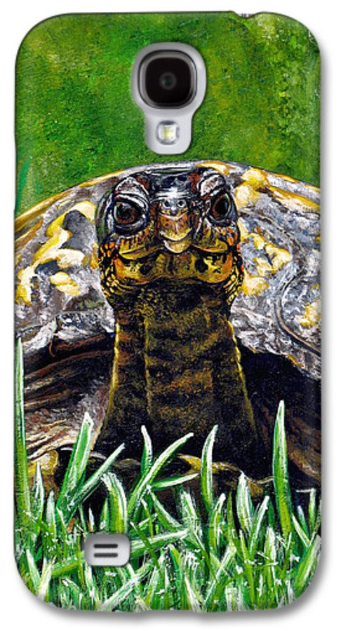 Turtle Galaxy S4 Case featuring the painting Smile by Cara Bevan
