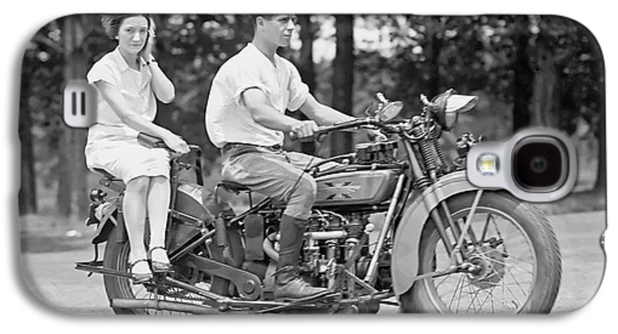 Motorcycle Galaxy S4 Case featuring the photograph 1930s Motorcycle Touring by Daniel Hagerman