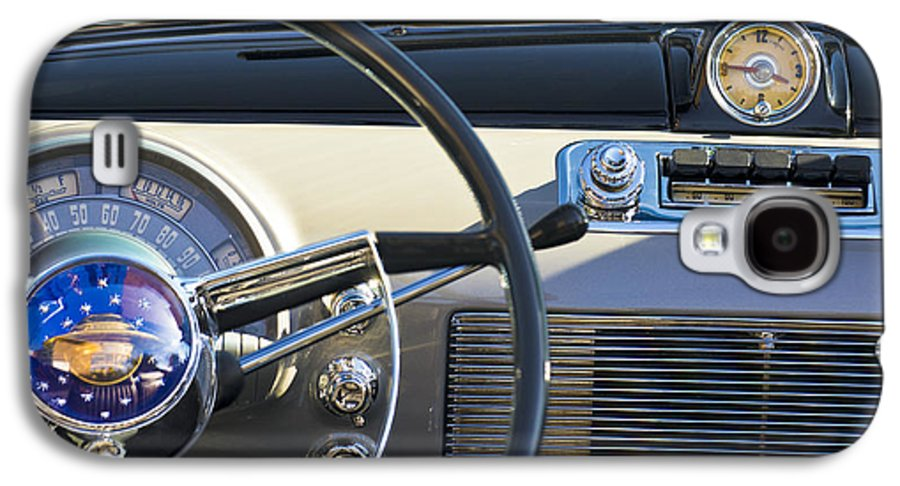 1950 Oldsmobile Rocket 88 Galaxy S4 Case featuring the photograph 1950 Oldsmobile Rocket 88 Steering Wheel 3 by Jill Reger