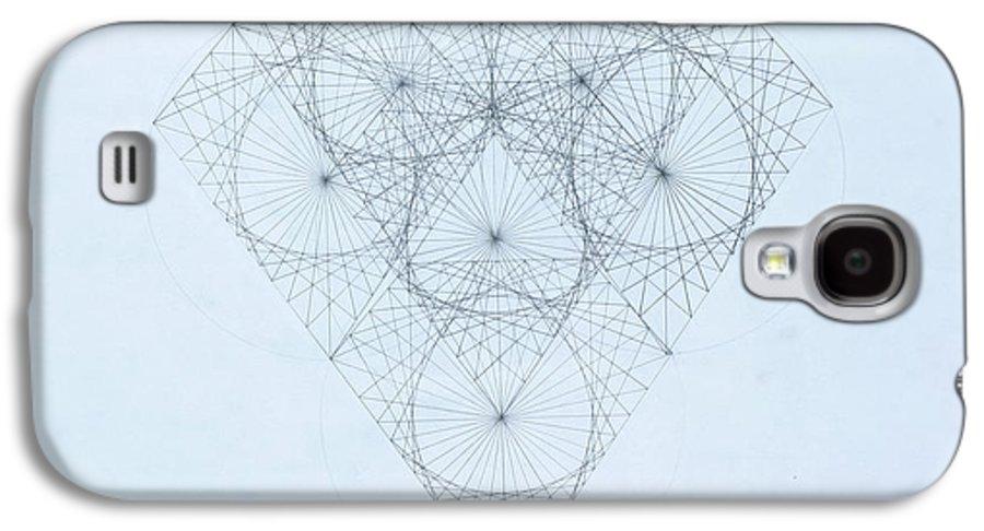 Jason Padgett Galaxy S4 Case featuring the drawing Diamond Quanta by Jason Padgett