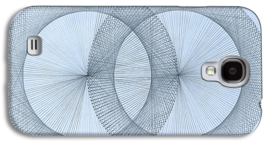 Magnet Galaxy S4 Case featuring the drawing  Magnetism by Jason Padgett