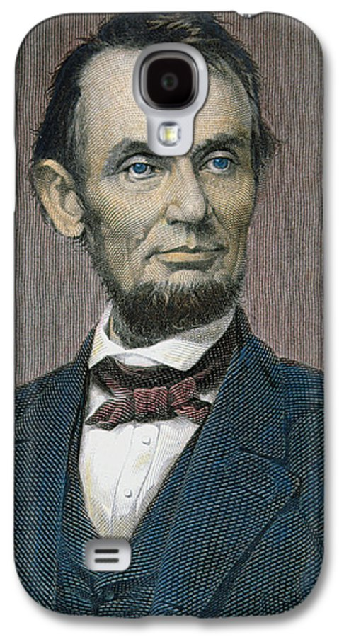 Statesman Galaxy S4 Case featuring the painting Abraham Lincoln by American School