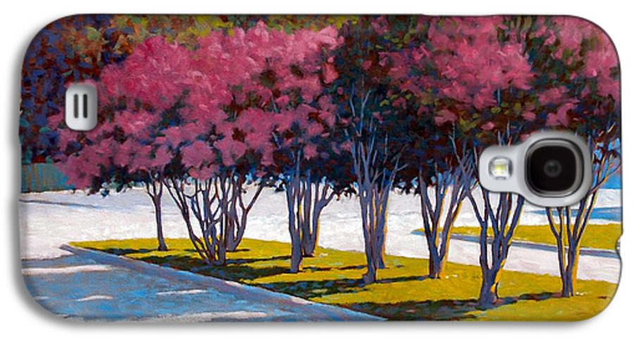 Crepe Myrtles Galaxy S4 Case featuring the painting Balanced Account by Kevin Lawrence Leveque