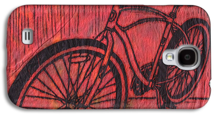 Bike Galaxy S4 Case featuring the drawing Bike 6 by William Cauthern