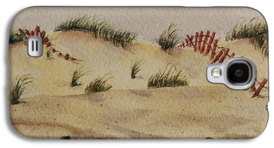 Sand Galaxy S4 Case featuring the painting Dunes by Mary Ellen Mueller Legault