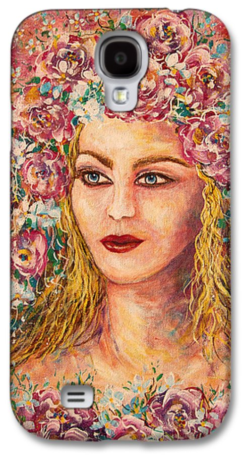 Goddess Galaxy S4 Case featuring the painting Good Fortune Goddess by Natalie Holland