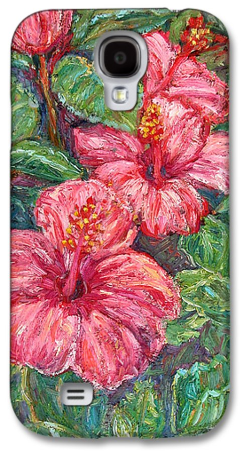 Hibiscus Galaxy S4 Case featuring the painting Hibiscus by Kendall Kessler