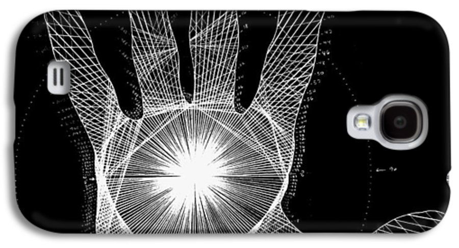 Hand Galaxy S4 Case featuring the drawing Quantum Hand Through My Eyes by Jason Padgett