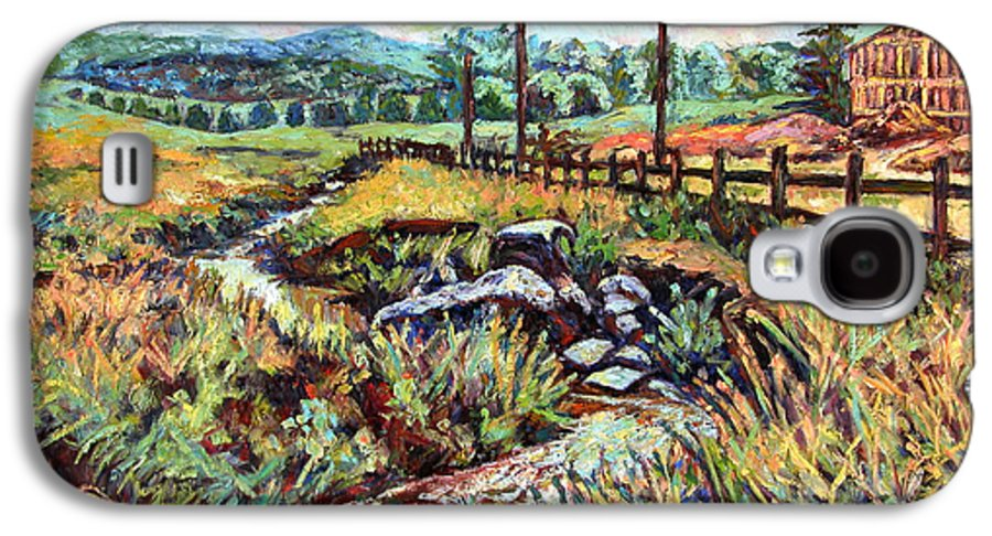 Landscape Paintings Galaxy S4 Case featuring the painting Stroubles Creek by Kendall Kessler