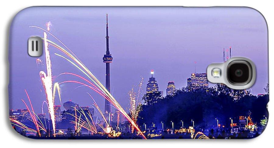 Toronto Galaxy S4 Case featuring the photograph Toronto Fireworks by Elena Elisseeva