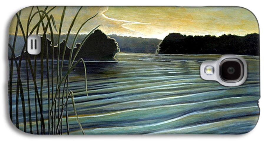 Rick Huotari Galaxy S4 Case featuring the painting What A Beautifull Morning by Rick Huotari