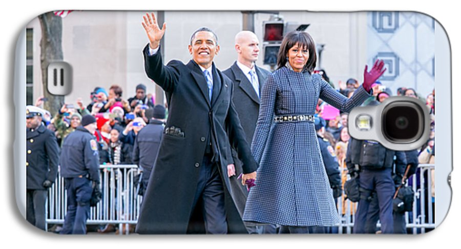 Obama Galaxy S4 Case featuring the photograph 2013 Inaugural Parade by Ava Reaves