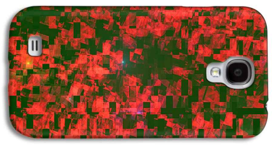 Design Galaxy S4 Case featuring the photograph Abstract Checkered Pattern Fractal Flame by Keith Webber Jr