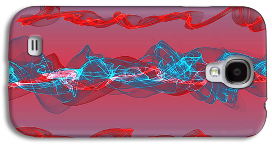 Wave Galaxy S4 Case featuring the digital art Abstract Twisted Waves by Aleksey Odintsov
