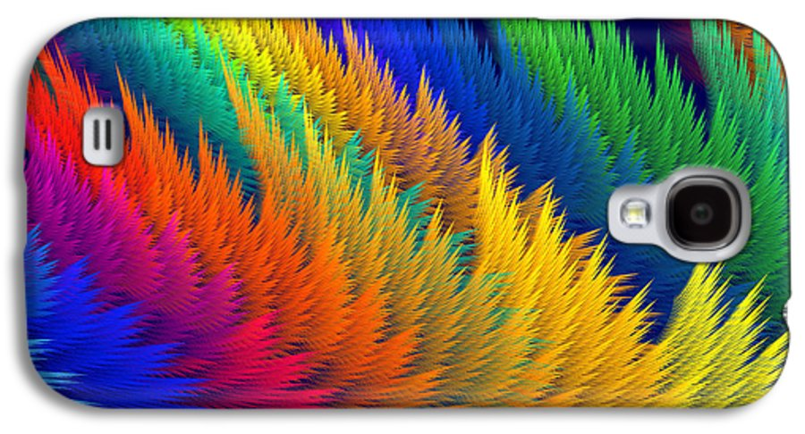 Translucent Galaxy S4 Case featuring the photograph Computer Generated Abstract Fractal Flame by Keith Webber Jr