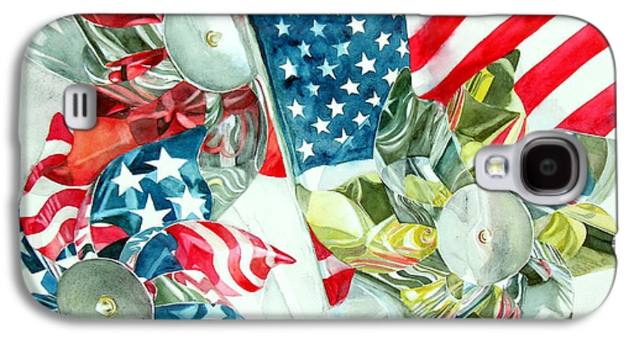 America Galaxy S4 Case featuring the painting 4th Of July by Elizabeth McRorie