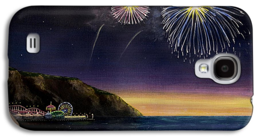 Amusement Pier Galaxy S4 Case featuring the painting 4th On The Shore by Jack Malloch