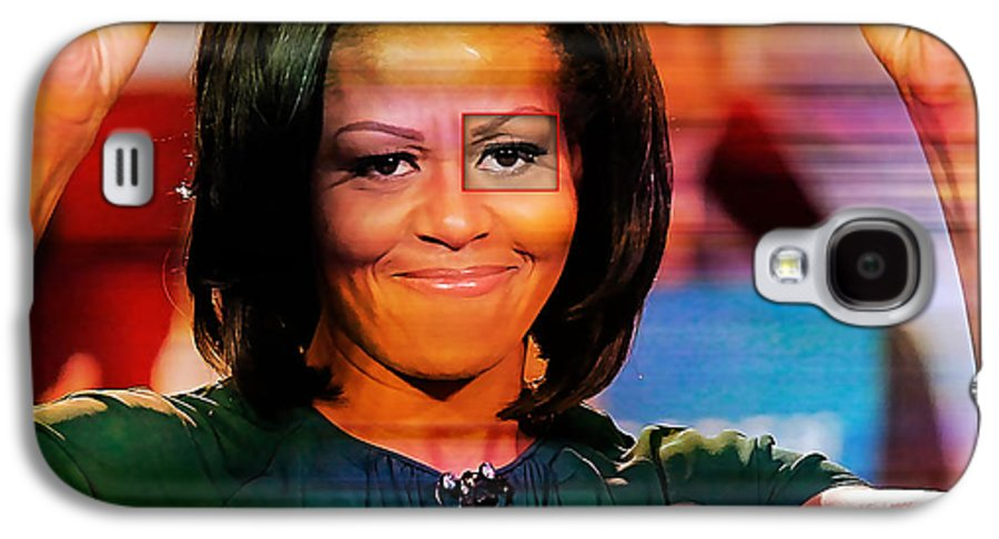 Michelle Obama Photographs Galaxy S4 Case featuring the mixed media Michelle Obama by Marvin Blaine