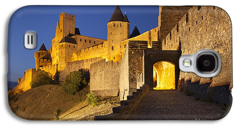 Architecture Galaxy S4 Case featuring the photograph Medieval Carcassonne by Brian Jannsen