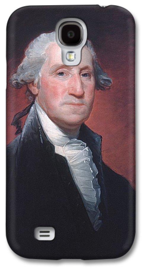 George Washington Galaxy S4 Case featuring the painting George Washington by Gilbert Stuart