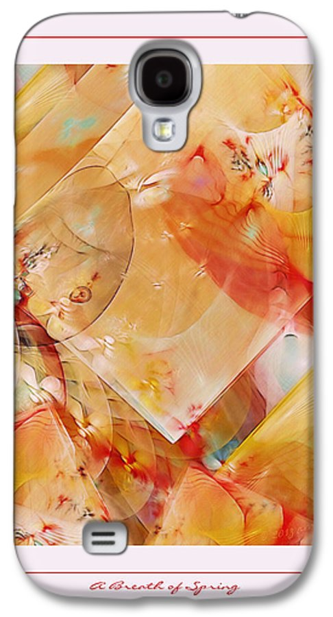 Fractal Galaxy S4 Case featuring the digital art A Breath Of Spring by Gayle Odsather